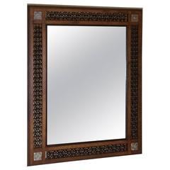 Vintage Moroccan Wood Mirror