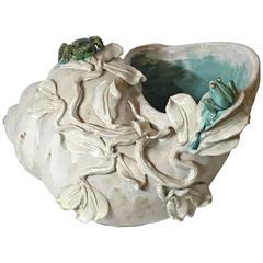 Decorative Ceramic Shell Planter