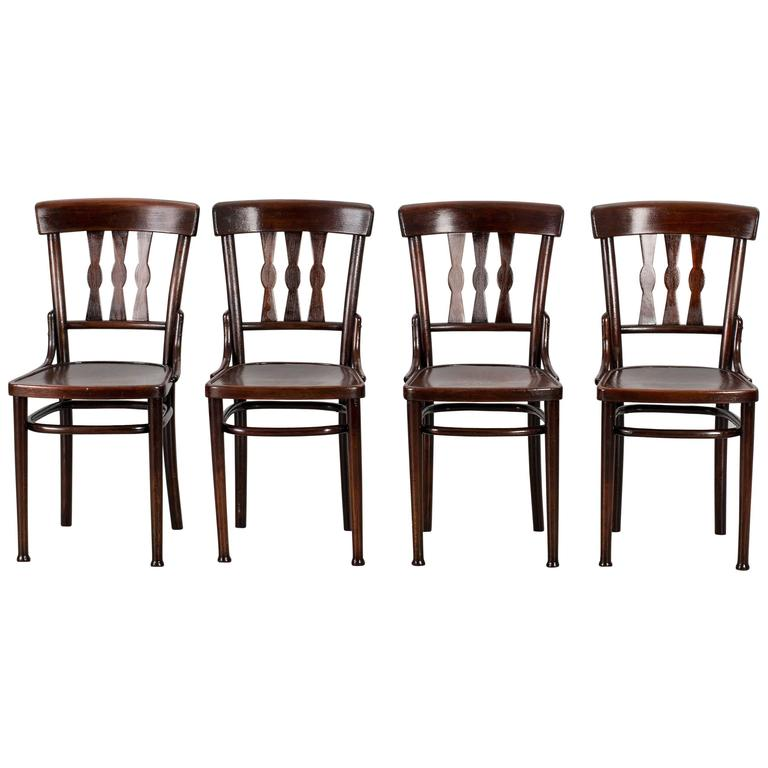 Set of Four Dining Room Chairs Attributed to Thonet