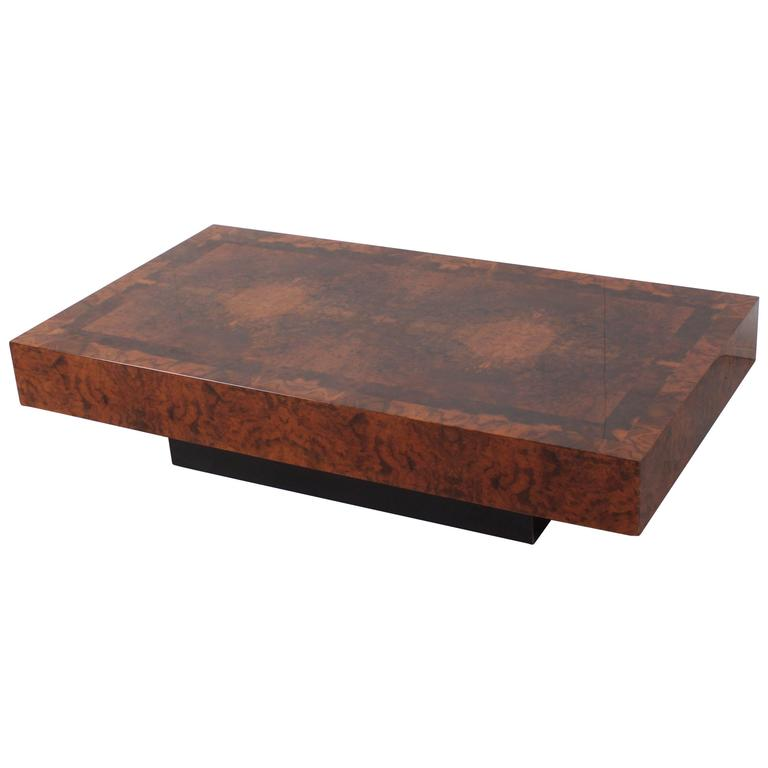 Willy rizzo style burl wood coffee table 1970s for sale for Table willy rizzo