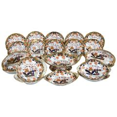 Spode 967 Pattern Porcelain Dessert Service, Twenty Two Pieces, circa 1807-1815