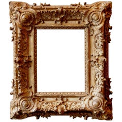 Exceptional Royal Quality French Regence Frame Mounted as Mirror, France, 1720s