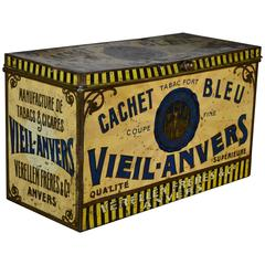 Early 20th Century Tobacco Box Antwerp , Tin Decorative Box