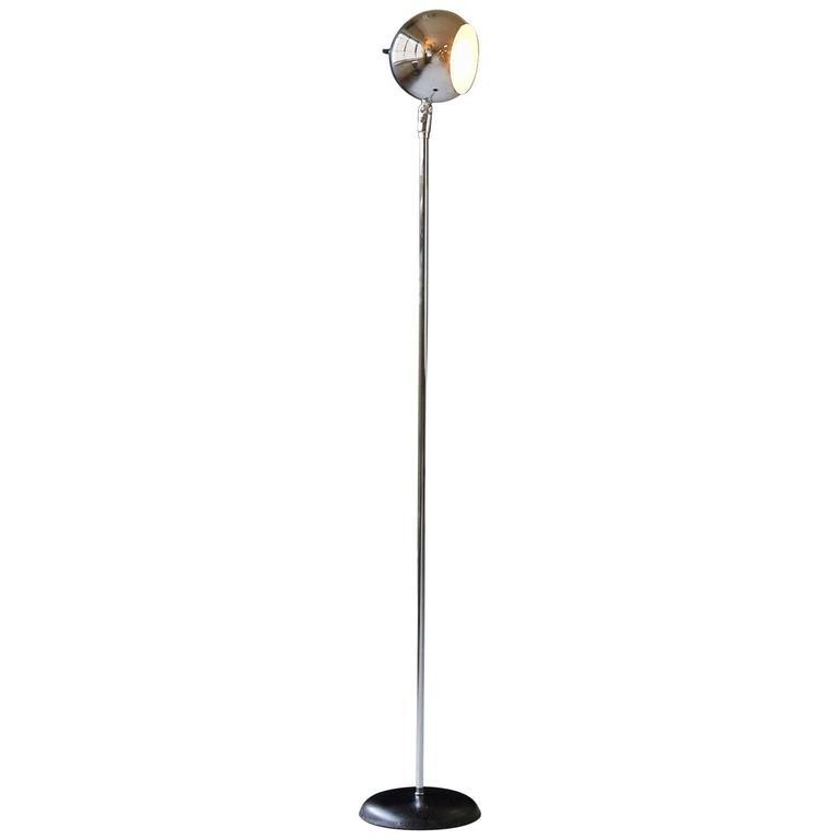 Robert Sonneman Style Chrome Eyeball Floor Lamp