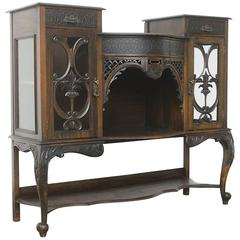 French Art Nouveau Showcase Cabinet or Service Buffet