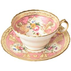 Pretty Pink Antique English Cup and Saucer