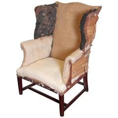 American Hepplewhite Wing Chair
