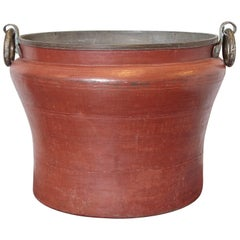 Copper Pot Massive with Forged Metal Handles