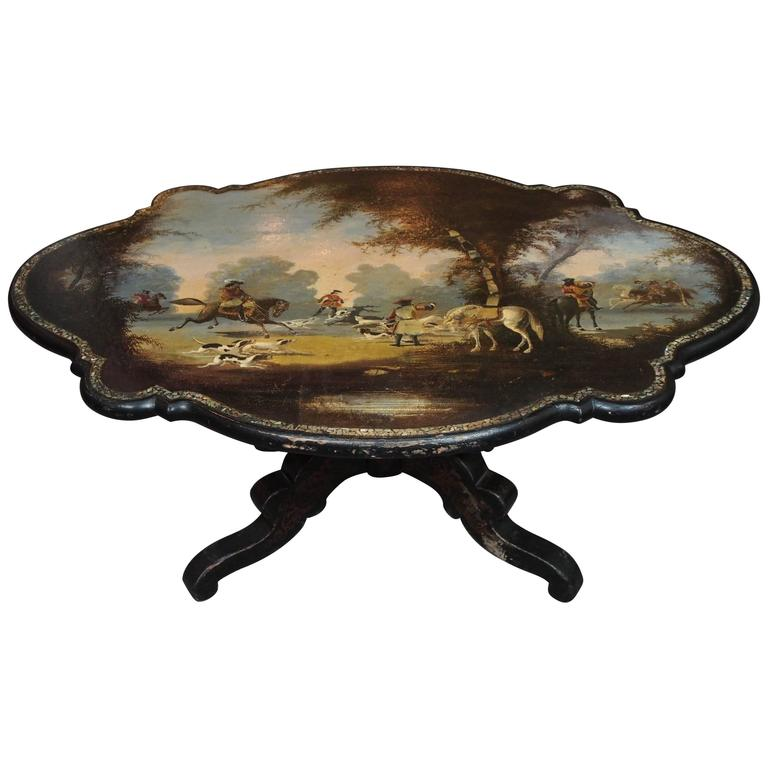 Antique English Victorian Low or Coffee Table For Sale