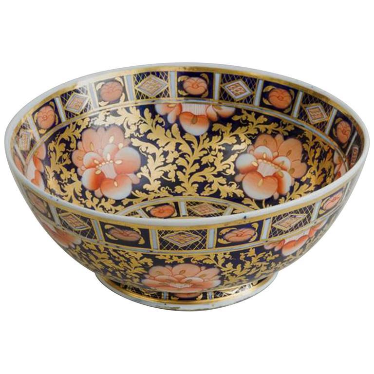 Mason's Ironstone Imari Pattern Punch Bowl, Circa 1825-30