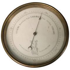 19th Century Barometer in Brass Case