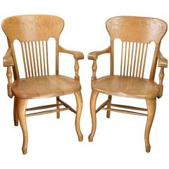 Quartersawn Oak Courtroom Chairs