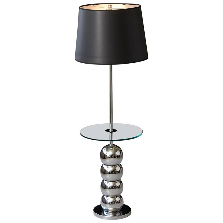 George Kovacs Stacked Chrome Ball Floor Lamp With