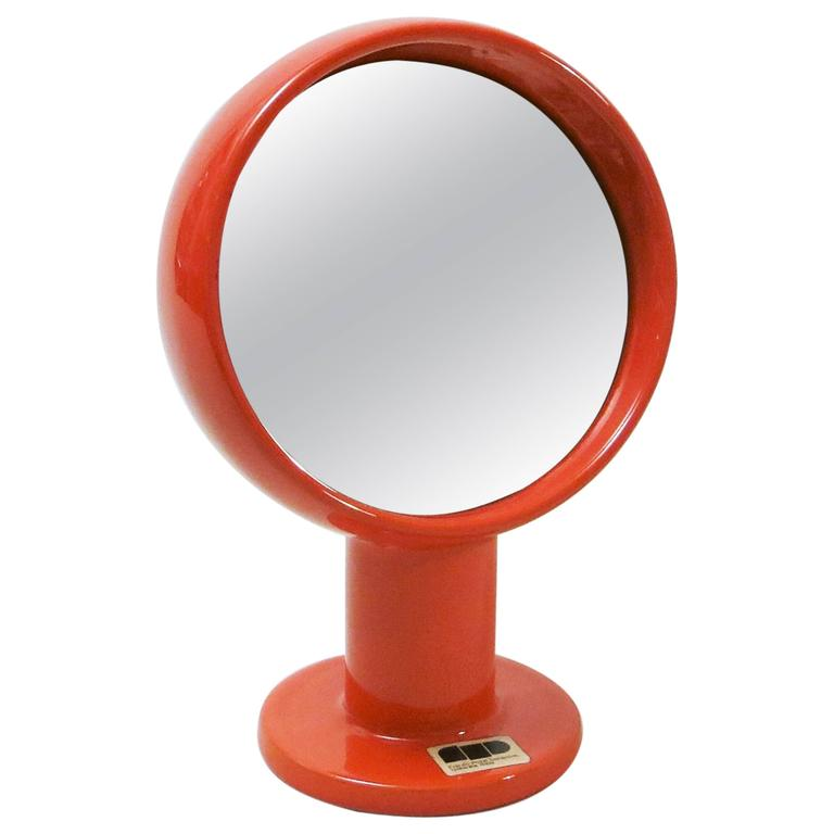 Table Mirror in Ceramic by Ambrogio and Franco Pozzi For Sale