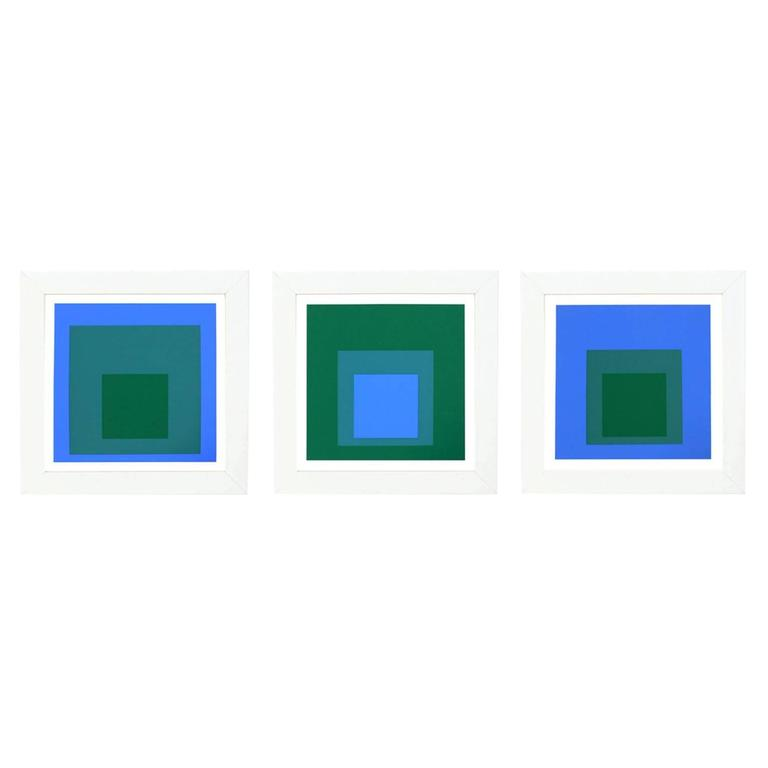"""Set of Three Josef Albers """"Homage to the Square"""""""