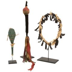 Collection of Rare Antique Native American Dance Objects, Plains, 19th Century