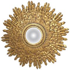 Candace Barnes Now, Silver Leafed Sunburst Mirror