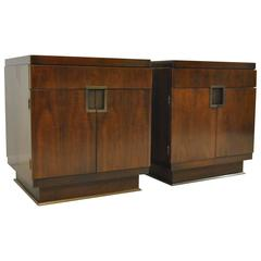Pair of Boxer Chests Designed by William Sofield for Baker Furniture