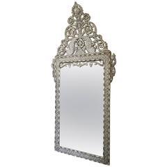 Late 19th Century Moroccan Bone Inlaid Mirror