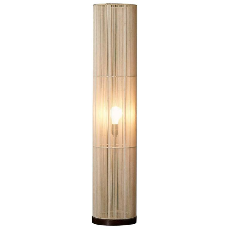 Cylindrical String Wrapped Floor Lamp