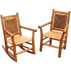 Set of Two Vintage Adirondack Armchairs