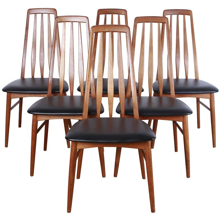 Set Of Six Mid Century Niels Koefoed Dining Chairs At 1stdibs