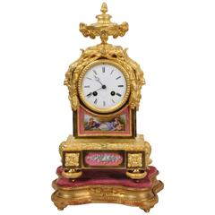 Early Ormolu and Sèvres Porcelain Clock by Raingo Frères, Fully Working
