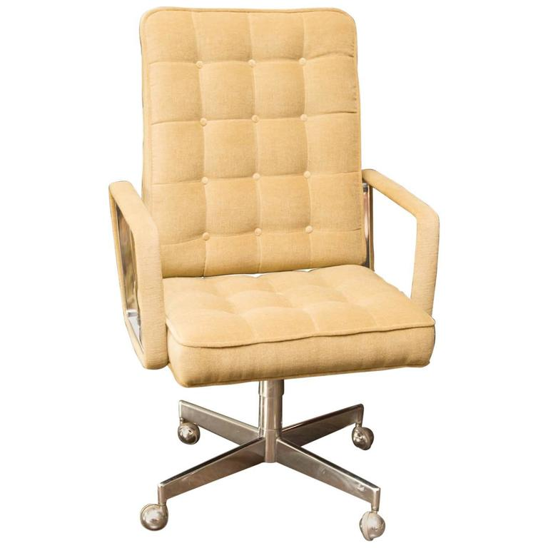 executive desk chair in donghia mohair at 1stdibs