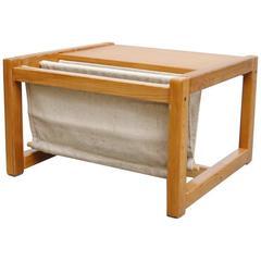 Ate Van Apeldoorn Pine Side Table and Magazine Storage