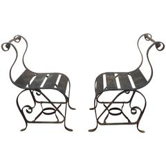 "Bouncer""Chairs Mid-Century Modern, Wrought Iron"