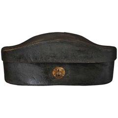 Sensational Early 19th Century Chapeau De Gendarme Hat Box