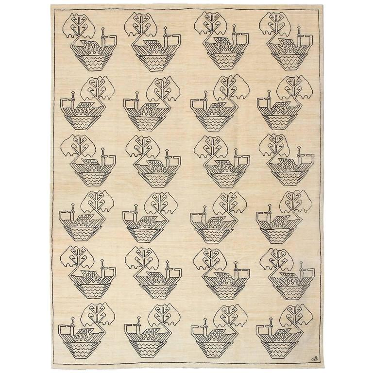 """Orley Shabahang Signature """"Nobles"""" Carpet in Handspun Wool and Vegetable Dyes"""