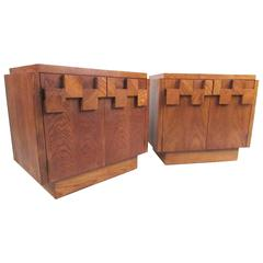 Pair of Lane Brutalist Nightstands
