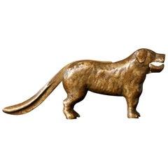 Antique Molded Brass Big Dog Nutcracker