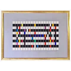 'One and Another' Artist's Proof Signed Color Serigraph by Yaacov Agam, 1980s