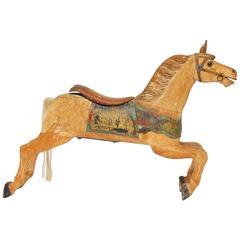 Herschell-Spillman Wooden Polychrome Decorated Carousel Horse