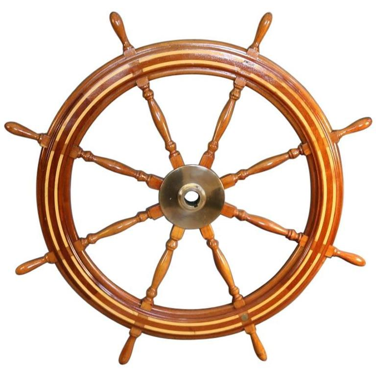 Wooden Ship's Wheel For Sale