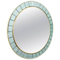 Large Round Mirror style of Cristal Arte