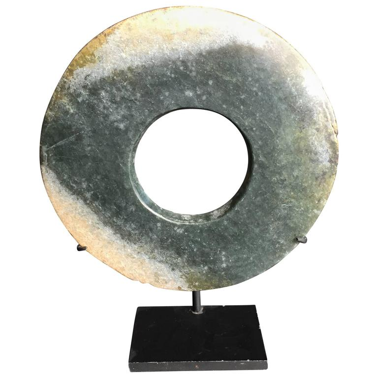 Authentic Jade Bi Disc from Ancient China 4000 Years Old