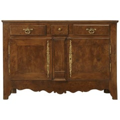 Antique French Yew Wood Buffet, circa 1800