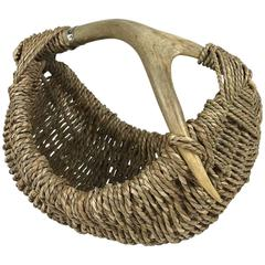 Custom Deer Antler Basket