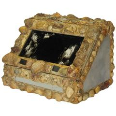 Oversized Antique Decorative Shell and Glass Box