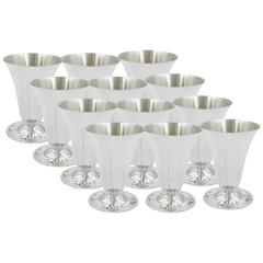 "Set of 12 ""Lotus"" Cordials"