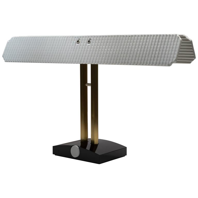 """Porcelain and Brass """"Capalonga"""" Desk Lamp by Afra & Tobia Scarpa for Flos, 1982"""