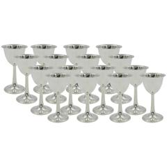 Set of 12 Hammered Goblets