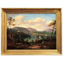 "Victor De Grailly ""View of the Hudson River at West Point"" circa 1840-1850"