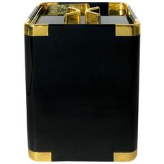 Black Plexi and Gold-Plated Ice Bucket