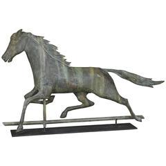 "J.L. Mott Iron Works ""Nelson"" Horse Weathervane in Copper, circa 1890s"