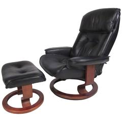 Danish Modern Leather Recliner