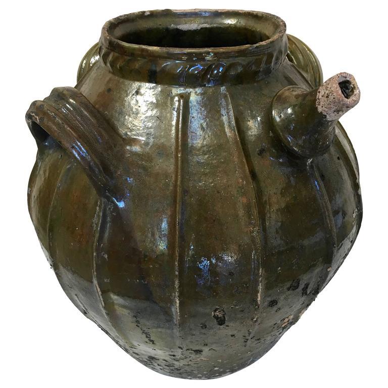 19th Century Terracotta Oil Vessel